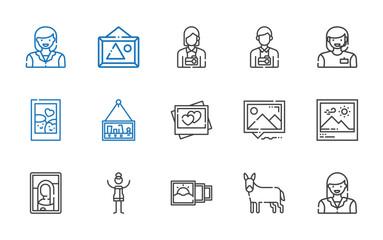 portrait icons set