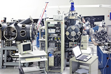 Room with interaction chambers at PALS laser system, Prague