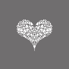 Poker playing card suit Hearts design shape single icon. Hearts suit deck of playing card used for ace in Las Vegas royal casino. Single icon pattern isolated on gray. Ornament drawing pic for tattoo