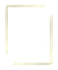 Fototapeta Vector of Christmas Simple Gold border obraz