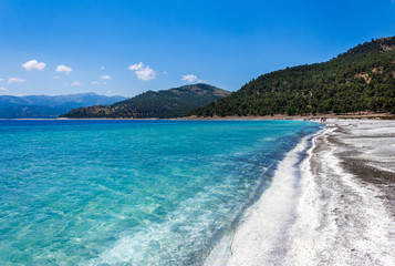 Salda Lake, one of Turkey's deepest, clearest and cleanest tectonic lakes