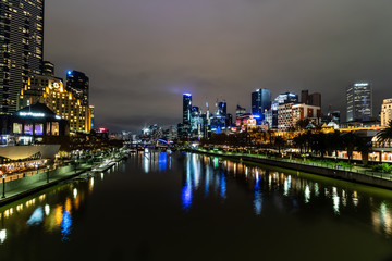 Yarra river night