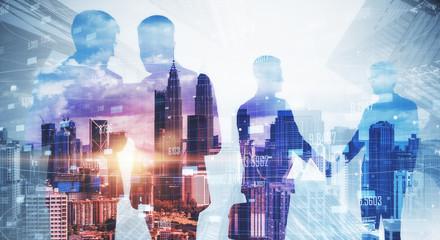 Poster Kuala Lumpur Teamwork and meeting concept