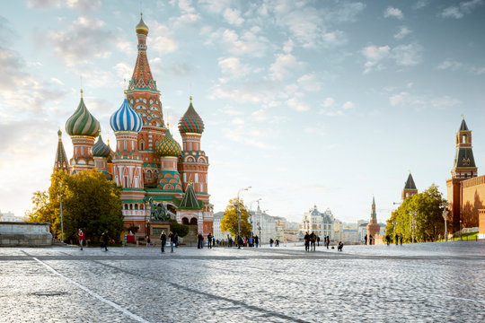 Red Square in Moscow city, Russia