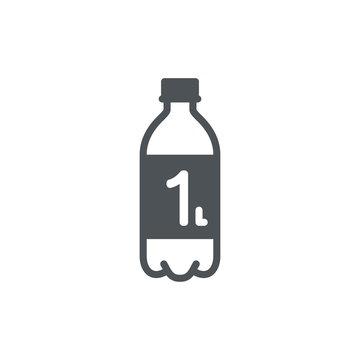 1 Liter l sign (l-mark) estimated volumes milliliters (ml) Vecto