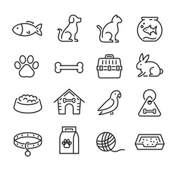 Pet And Veterinary Icons