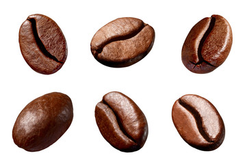 Deurstickers Koffiebonen coffee bean brown roasted caffeine espresso seed