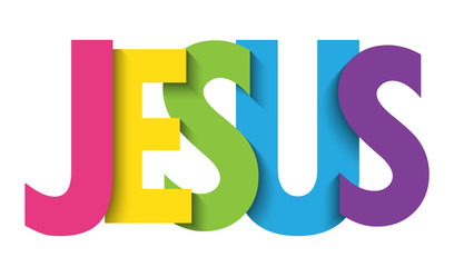 JESUS colorful vector typography banner
