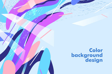 Trendy concept abstract design, memphis background. Applicable for placards, brochures, posters, covers and banners. Vector illustration.