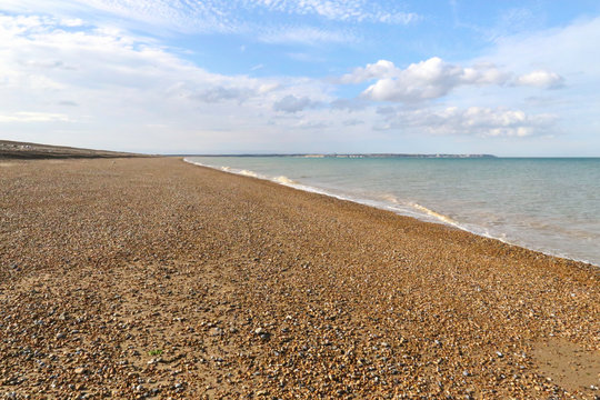 Beach and Sea at Sandwich in Kent, UK