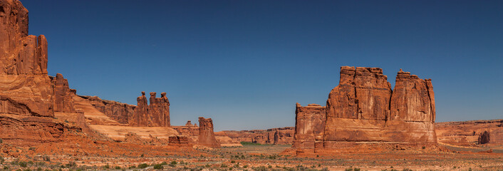 Panorama View of La Sal Mountain View Point, Arches National Park, Utah. Wall mural
