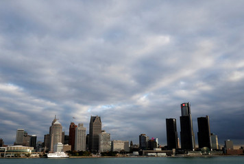 General view of Detroit in the U.S., as seen from Windsor, Ontario, Canada