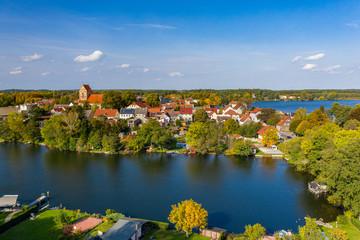 Die Stadt Lychen in der Uckermark, Land Brandenburg