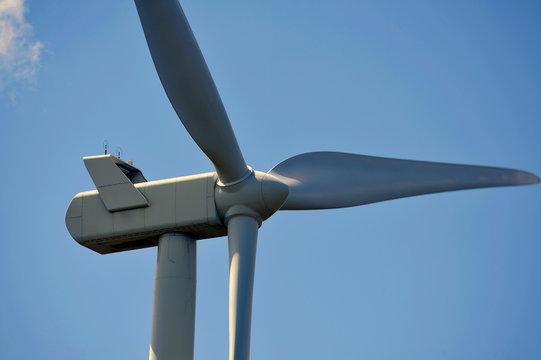 wind turbines close-up on propellers