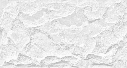 White stone grunge background, rough rock wall texture Wall mural
