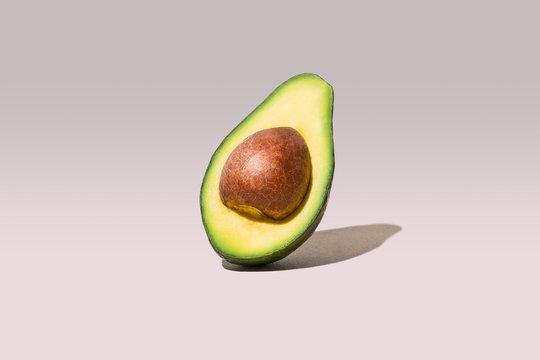 Avocado Half Cut Studio Shot