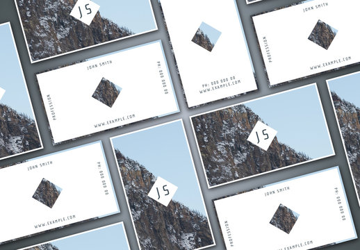 Business Card Layout Set with Image Backgrounds