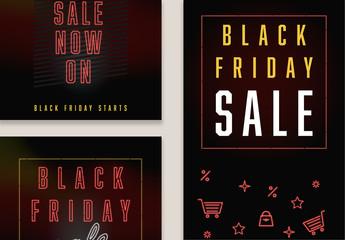 Black Friday Social Media Post Layouts