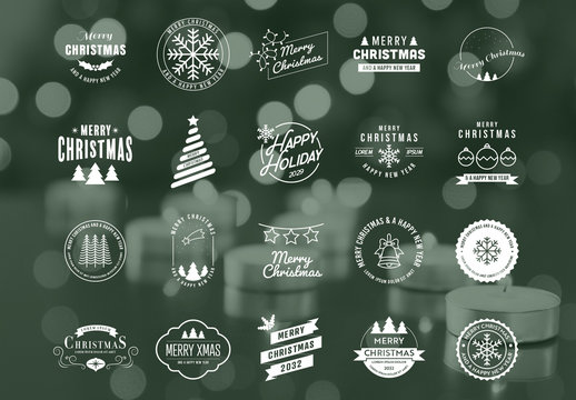 Christmas Logo Layout Pack