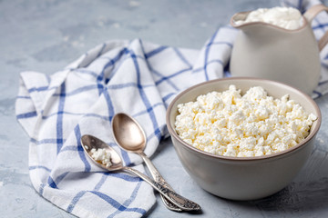 Fresh homemade cottage cheese and sour cream.