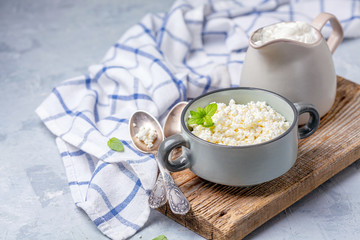 Organic farm cottage cheese and sour cream.