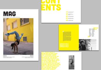 Yellow Magazine Layout
