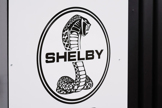 Logo Shelby Cobra car dealership sign store