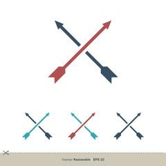 Arrows Vector Logo Template Illustration Design. Vector EPS 10.