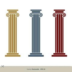 Pillar Legal, Attorney, Law Office Vector Logo Template Illustration Design. Vector EPS 10.