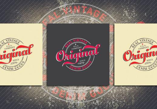 Vintage Circle Typography Logo Layout