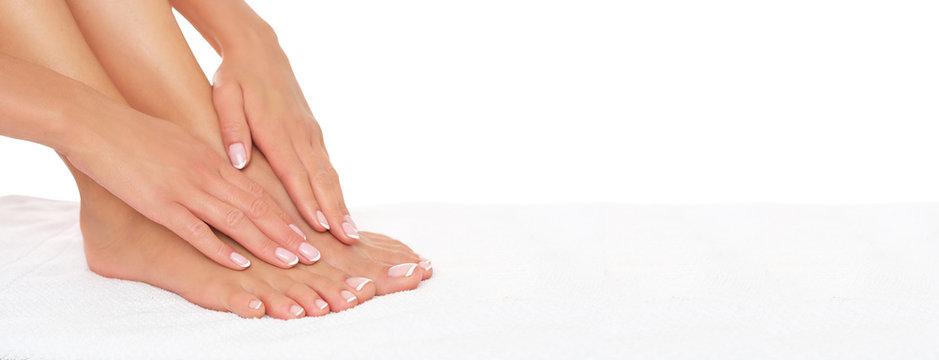 Spa treatment, manicure and pedicure.