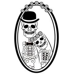 day of the dead skulls wedding