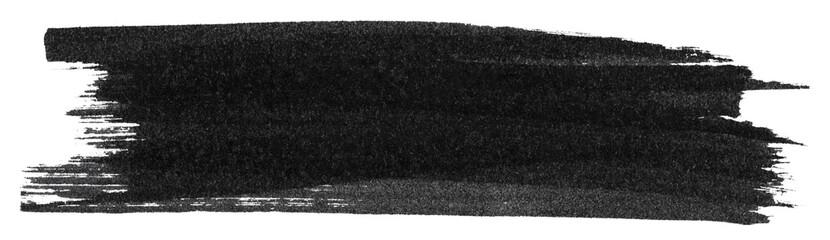 Obraz Black marker paint texture isolated on white background - fototapety do salonu