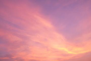 Dramatic cloudscape twilight in sunrise / sunset