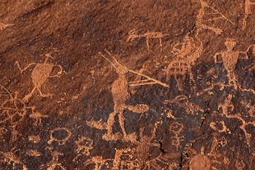 Kokopelli Petroglphs, Sand Island Petroglyph Panel, UT