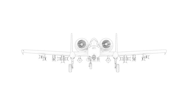 3d rendering of a combat fighter airplane isolalted in white background