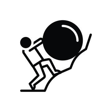 Black solid icon for effort