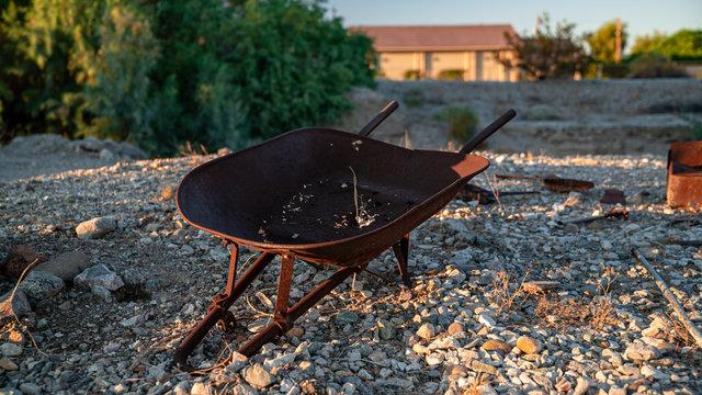 Rusty Wheelbarrel