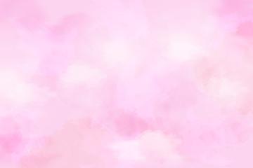 Fototapeta ピンクを基調色した水彩タッチの背景(アブストラクト) obraz