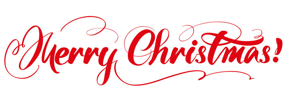 Merry Christmas Calligraphy lettering text symbol of Christianity hand drawn vector illustration sketch