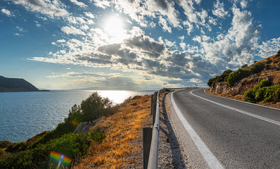 greek road by the sea