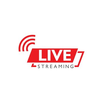 Live stream logo design. Vector illustration