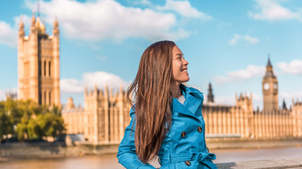 Europe city woman traveller lifestyle in London