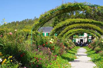 Türaufkleber Pistazie Haie du jardin de Claude Monet - 2
