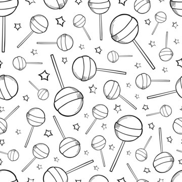 lollipop pattern holiday doodle candy background sweets illustration sketch