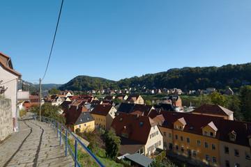 Stadt Wehlen, Ansicht vom Hausberg