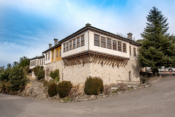 Buildings with traditional architecture in Ioannina city, Greece