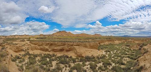 Canyon in the Spanish semi-desert Bardenas Reales