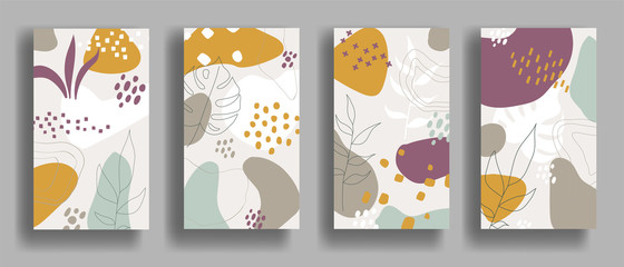 Set of vector banners with abstract ornament Wall mural