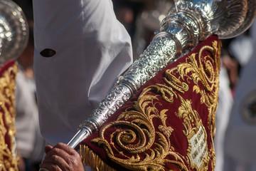 Fototapete - nazarenos de la hermandad de San Gonzalo, semana santa en Sevilla